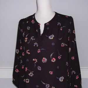 Large Dalia Black Floral Top